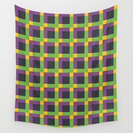 Overlapping Squares II Wall Tapestry