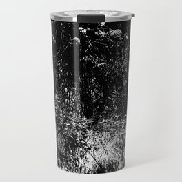 Forest mess black and white high contrast abstract plants Travel Mug