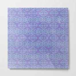 Elegant Aztec: Purple Water Metal Print