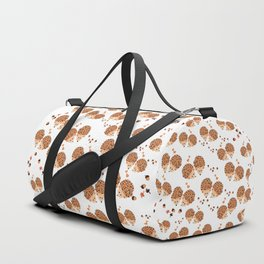 Hedgehogs in autumn Duffle Bag