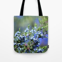 Light Blue Juniper Berries Tote Bag