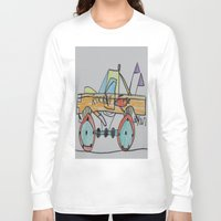 truck Long Sleeve T-shirts featuring Rocket Truck by Ryan van Gogh