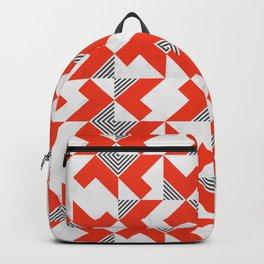 Marble Red Blocks Backpack