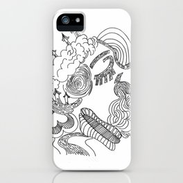 dreams in line iPhone Case