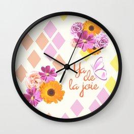 Ya de la joie Wall Clock