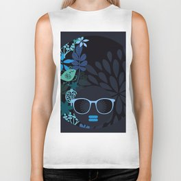 Afro Diva : Sophisticated Lady Teal Biker Tank