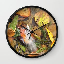 Autumn Leavings Wall Clock