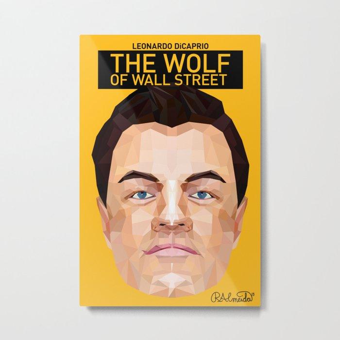 The Wolf of Wall Street Minimalist Poster Metal Print
