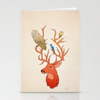 antlers Stationery Cards featuring Antlers by Jonathan Sims