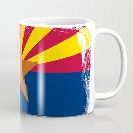 The State Of Arizona Flag Grunge Coffee Mug