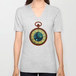 Cosmic Pocket Watch Unisex V-Neck