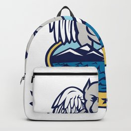 American Bully Dog Angel Wings Island Backpack
