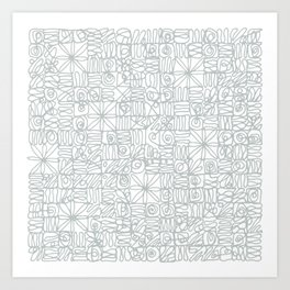 Be square. Be Serene. Be present. Art Print