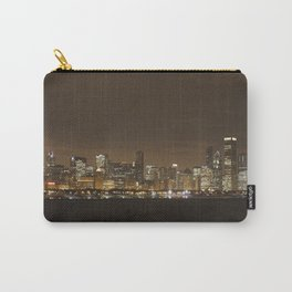 Chicago Skyline at Night Color Photography Carry-All Pouch