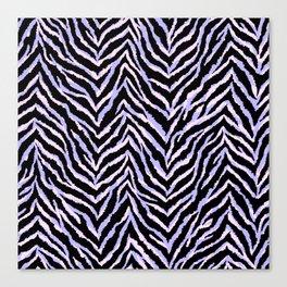 Zebra fur texture print II Canvas Print