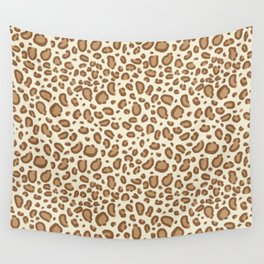 Leopard spots animal pattern print minimal basic home decor safari animals Wall Tapestry