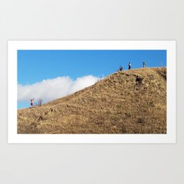 Your Standing On My Relatives Art Print