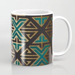 Art Deco Ornamental Teal Happiness Coffee Mug