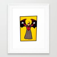 dungeons and dragons Framed Art Prints featuring DUNGEONS & DRAGONS - AVENGER by Zorio
