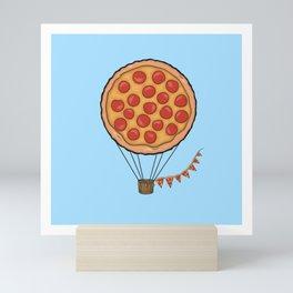 Pizza Hot Air Balloon Mini Art Print