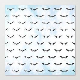 Sleeping Eyes and Eyelashes Canvas Print