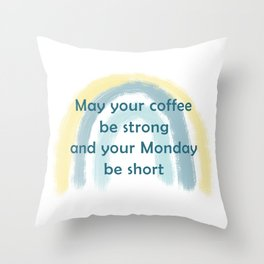 Coffee Blessings Throw Pillow