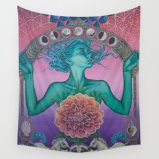 The gate of knowledge Wall Tapestry