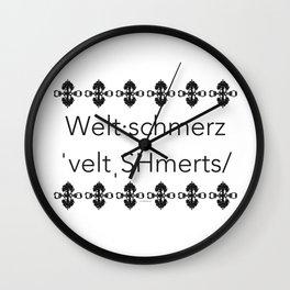 Weltschmerz Wall Clock