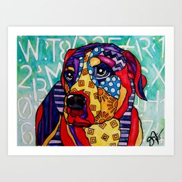 Norman Labrador Retriever Hound Swiss Mountain Bernese Mastiff Weimaraner Bull Boxer Dog Pet Design Art Print