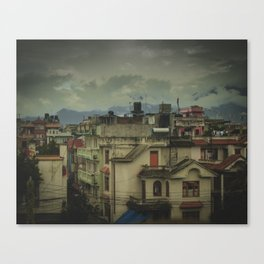 Kathmandu City Roof Tops - Architecture 03 Canvas Print