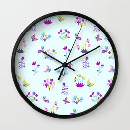 Mod Ditsy Floral Wall Clock