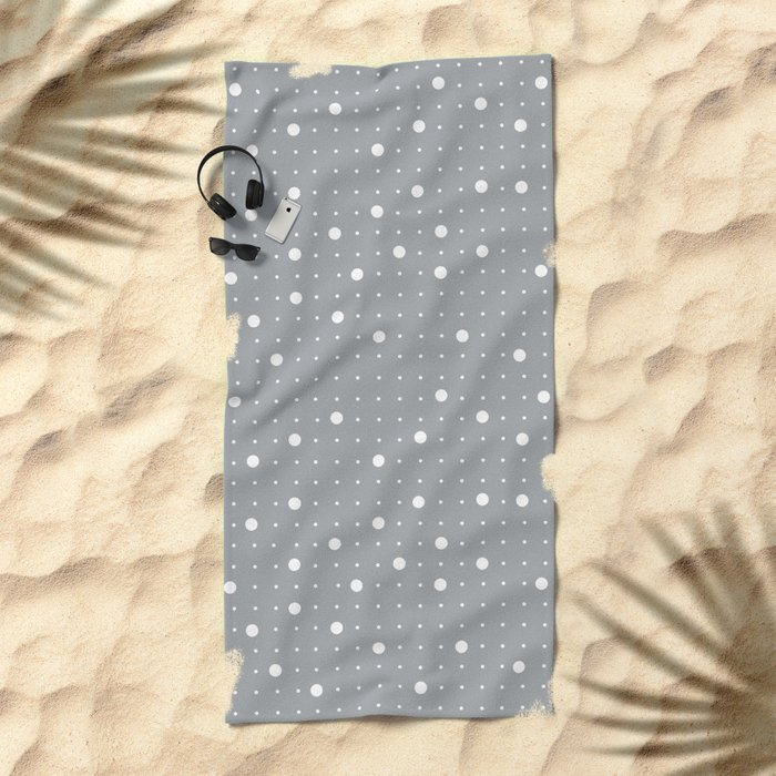 Pin Points Grey Beach Towel