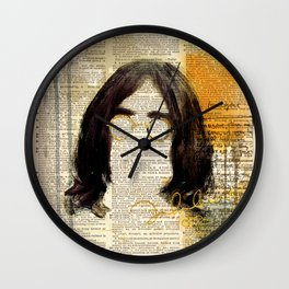 IMAGINE #art on dictionary page Wall Clock