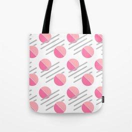 Modern Pink Circle Line Abstract Tote Bag