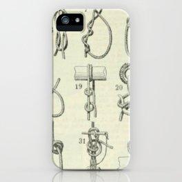 Vintage Knots Chart iPhone Case