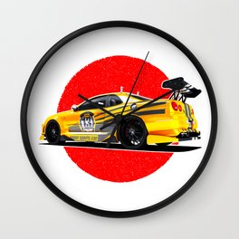 Sports car Japanese style. Wall Clock