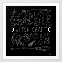 witchcraft Art Prints featuring witchcraft by missusruin