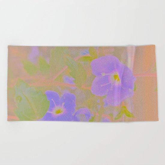 Georgia Blue, The Earth Laughs In Flowers Beach Towel