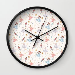 Christmas ballet Wall Clock