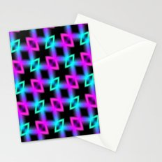 Neon Glow Light Stationery Cards