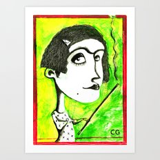 SMOKER ONE Art Print