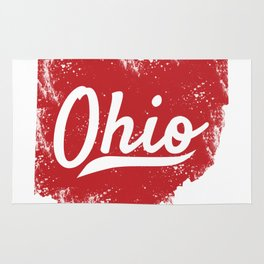 Ohio Gift I Love My Ohio Home Cleveland Cincinnati Akron OH Rug