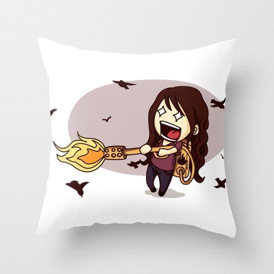 Bird Flaming Throw Pillow