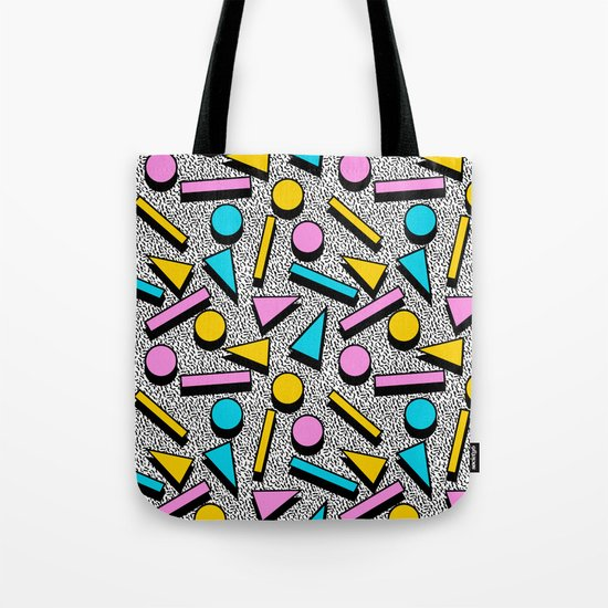 Dig It - memphis throwback retro neon cool rad pattern dorm college hipster neon squiggle abstract Tote Bag