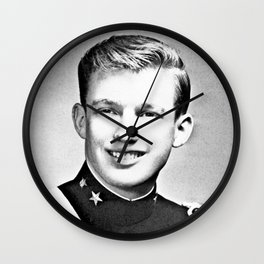 Donald Trump - 1964 New York Military Academy Wall Clock