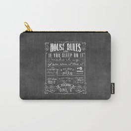 House Rules Retro Chalkboard Carry-All Pouch