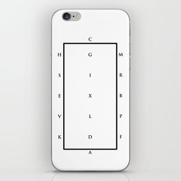 Equestrian Alphabet - Black & White iPhone Skin