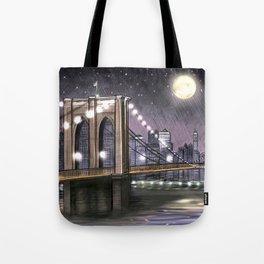 Brooklyn Bridge at Night Tote Bag