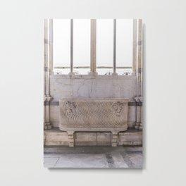 Campo santos coffin Pisa Italy Metal Print