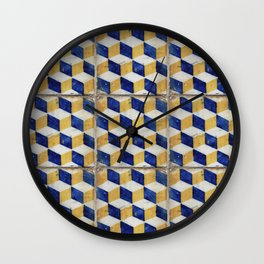 Portuguese tiles pattern Wall Clock